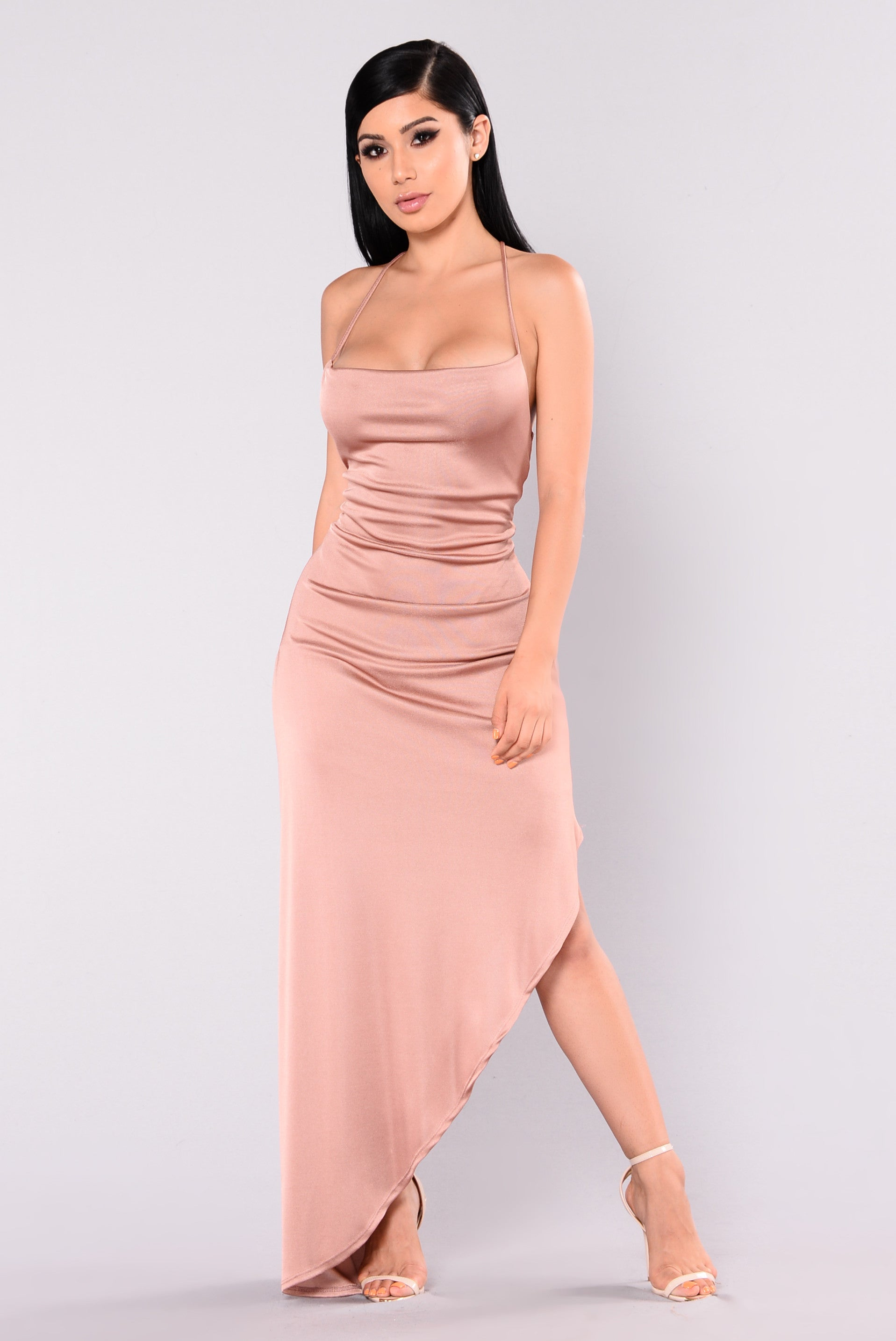 Pink dress with rose gold