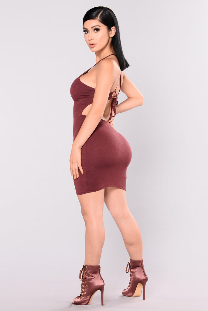 Steph Steph Mini Dress - Red Brown