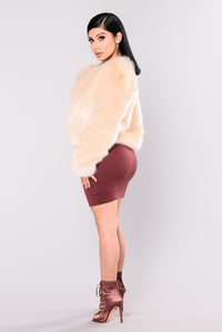 Franchesca Fur Jacket - Natural