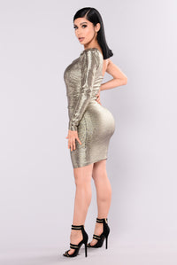Nevada Shimmer Dress - Gold