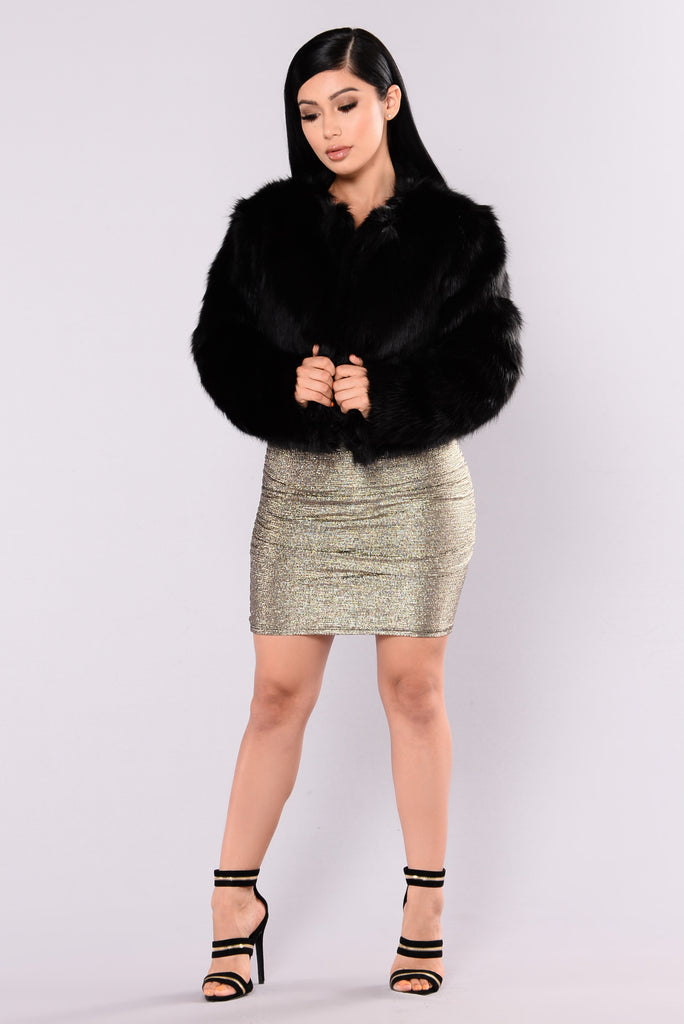 Franchesca Fur Jacket - Black