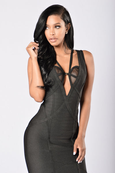 Revenge Bandage Dress - Black