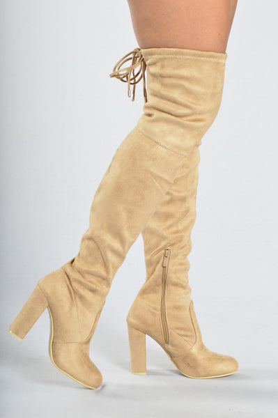 High Rise Heel - Beige