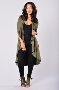 Out of the Wild Jacket - Olive Angle 1