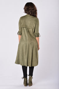 Out of the Wild Jacket - Olive Angle 2