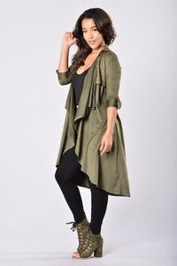 Out of the Wild Jacket - Olive Angle 3