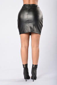 Get Me in Trouble Skirt - Black