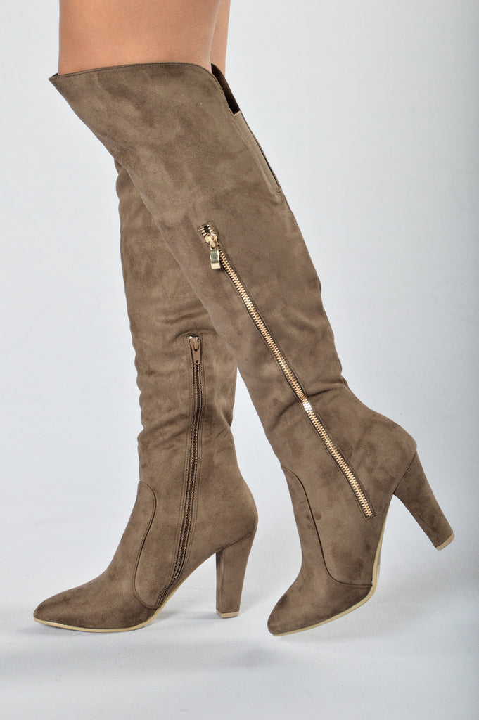 Zip it Up Boot - Taupe