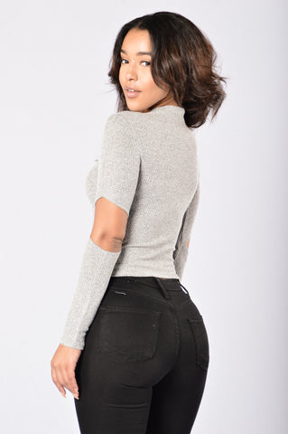 Quick Peek Top - Grey
