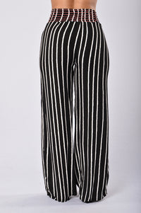 Easy Lazy Day Pants - Black Stripe