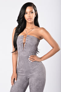 Malika Jumpsuit - Charcoal