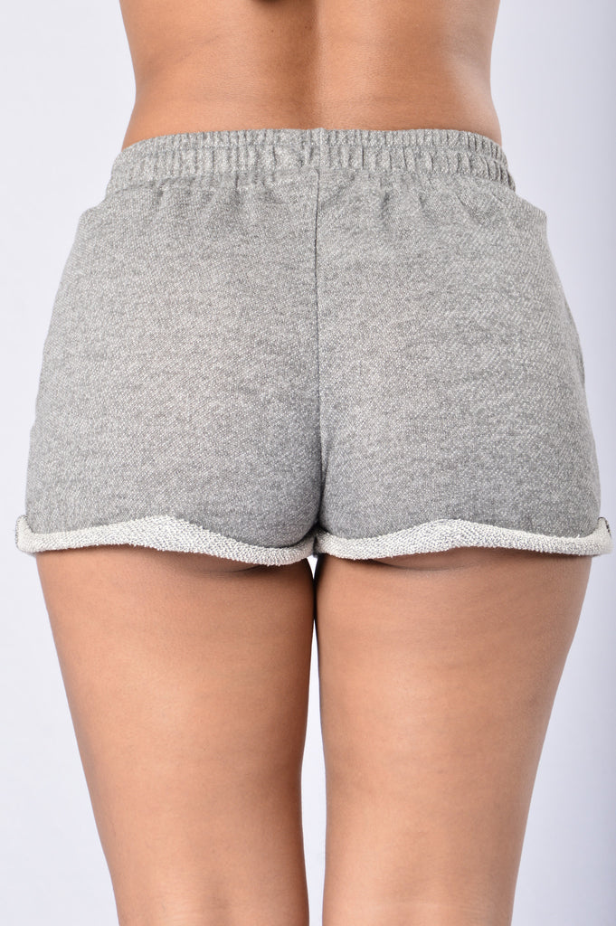 Keep It Real Shorts - Heather Grey
