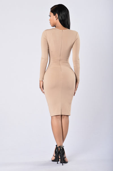 Lost In Your Eyes Dress - Beige
