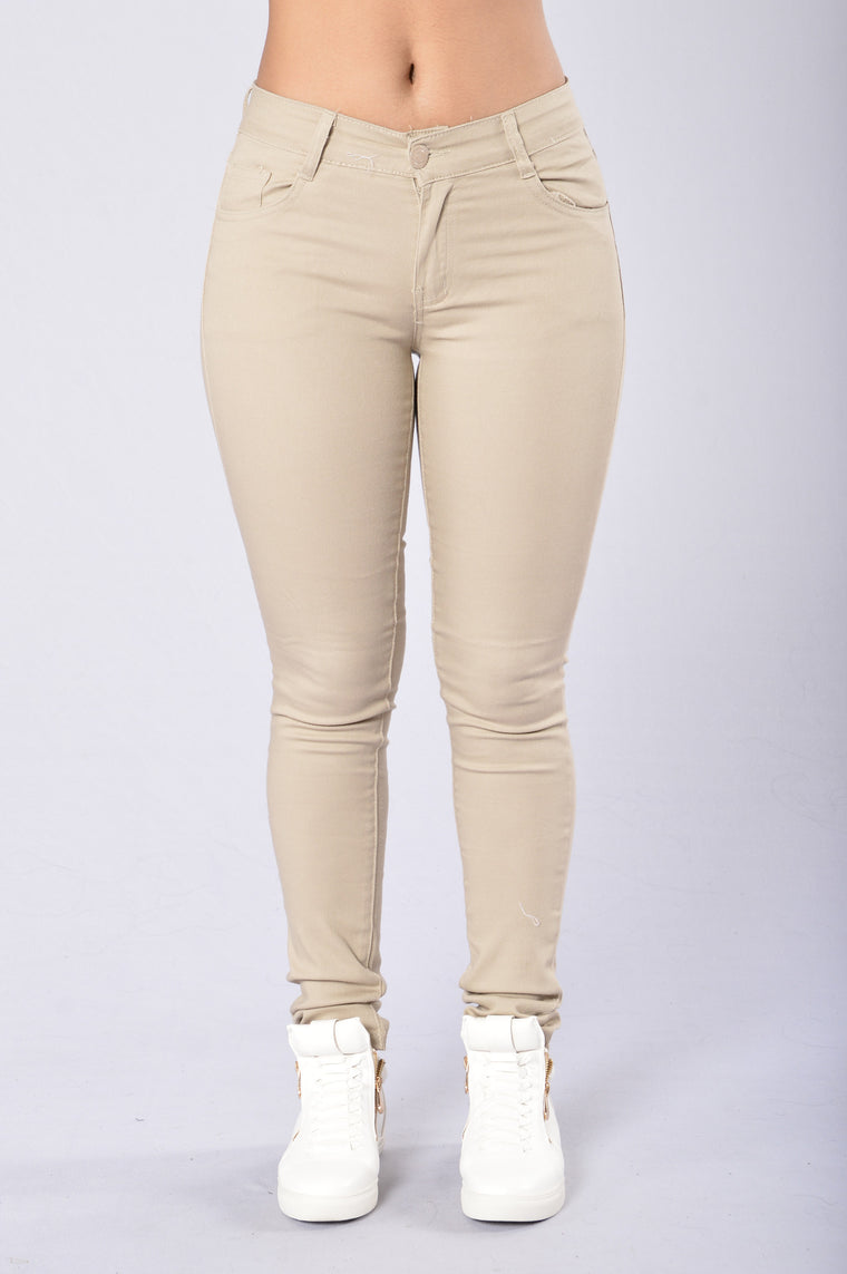 feff013347 Skinny Uniform Pants - Khaki