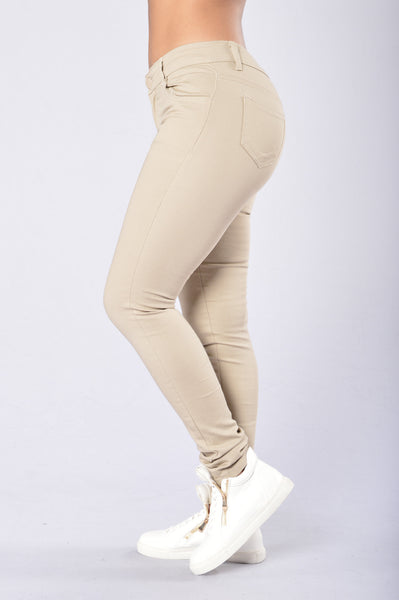 Skinny Uniform Pants - Khaki