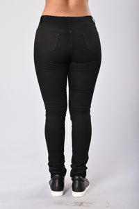 Skinny Uniform Pants - Black