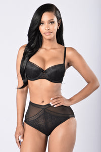 Reduce and Seduce High Waist Panty - Black Angle 2