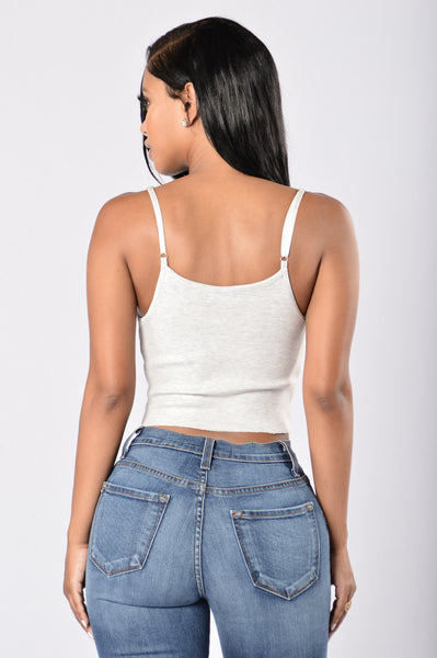 Prime Ribbed Top - Heather Grey