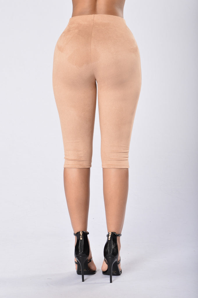 Sexy in Suede Legging - Nude