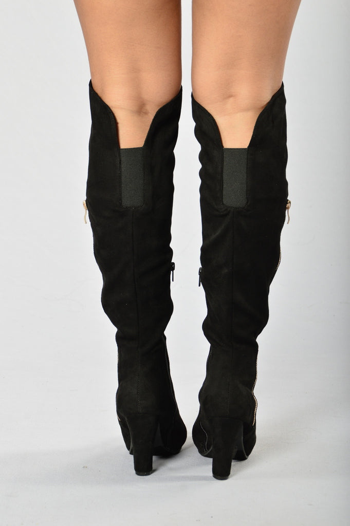 Zip it Up Boot - Black