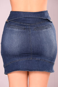 Drop Dead Diva Denim Skirt - Medium