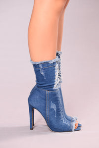 Downtown When I'm Round Town Boot II - Blue