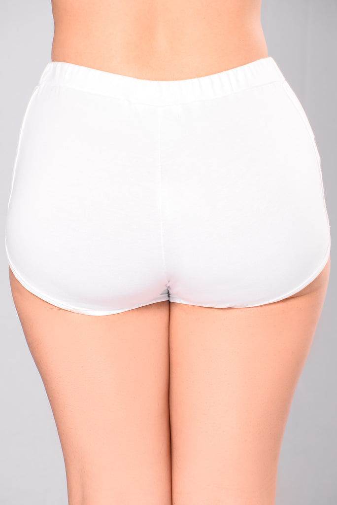 Leo Cut Out Shorts - White