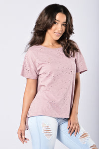 Always On The Road Tee - Lavender