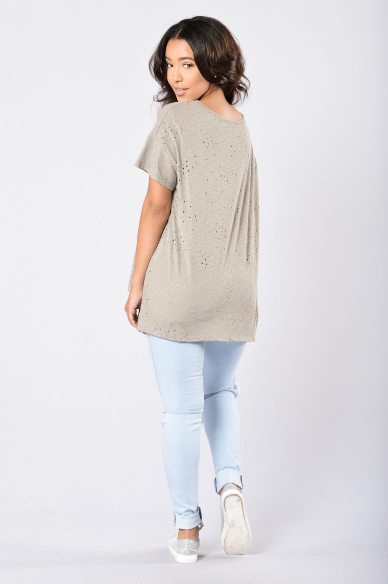 Always On The Road Tee - Olive