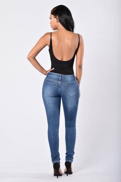 Set It Up Jeans - Dark