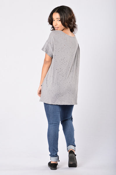 Always On The Road Tee - Grey