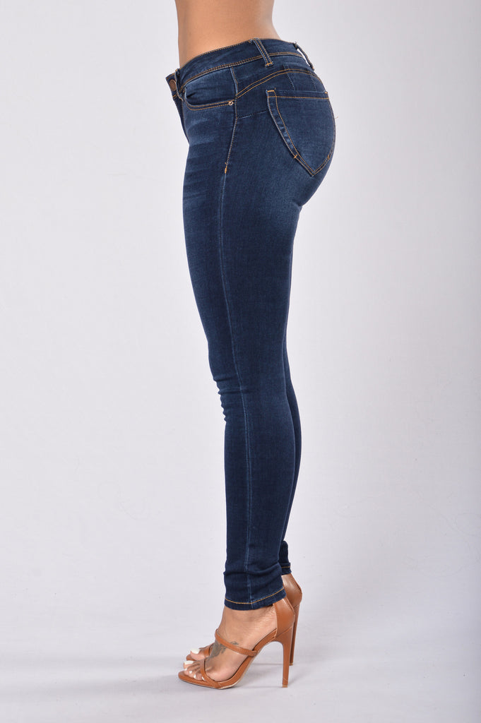Miss New Booty Shaping Denim - Dark Blue