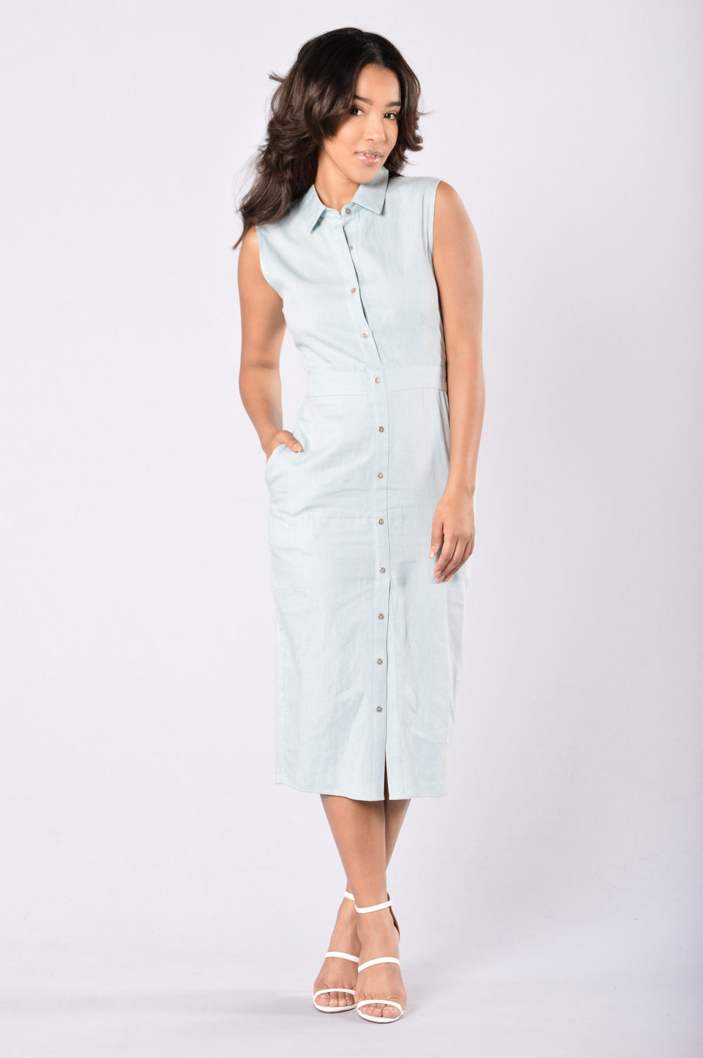 Feeling Blue Dress - Light Denim
