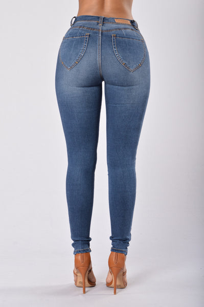 Miss New Booty Shaping Denim - Medium Blue