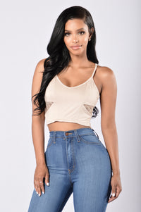 Cutie Pie Crop Top - Nude Angle 1