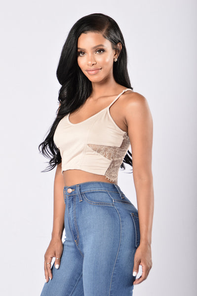 Cutie Pie Crop Top - Nude