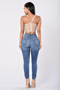 Cutie Pie Crop Top - Nude Angle 5
