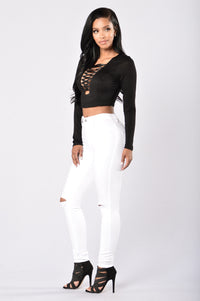 Dare Me Crop Top - Black