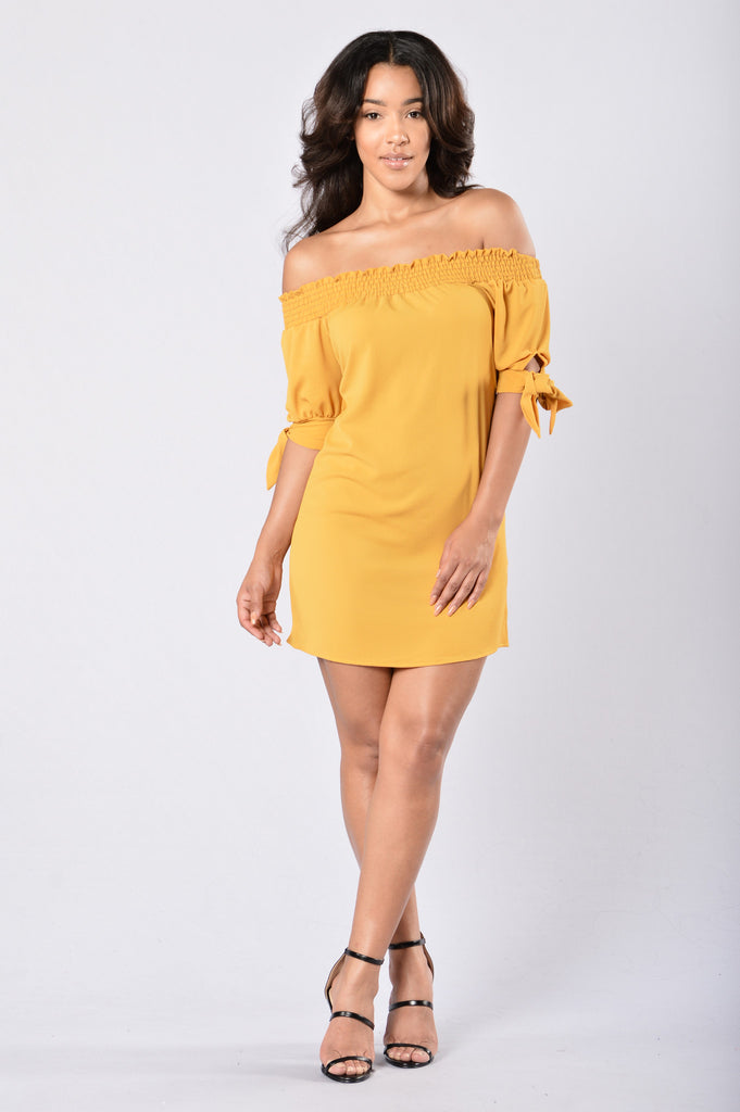 Room for Happiness Dress - Mustard