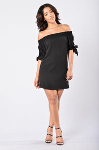 Room for Happiness Dress - Black Angle 1