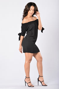 Room for Happiness Dress - Black Angle 6