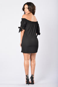 Room for Happiness Dress - Black Angle 5