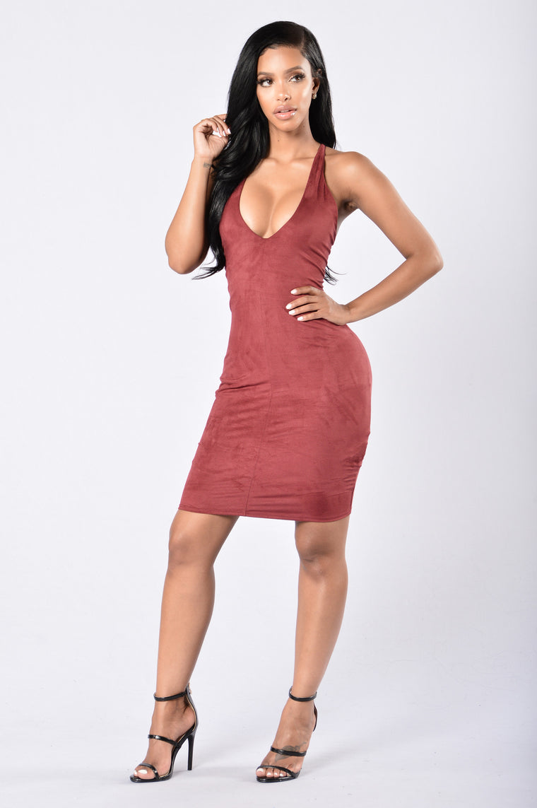 Atlantic City Dress - Burgundy