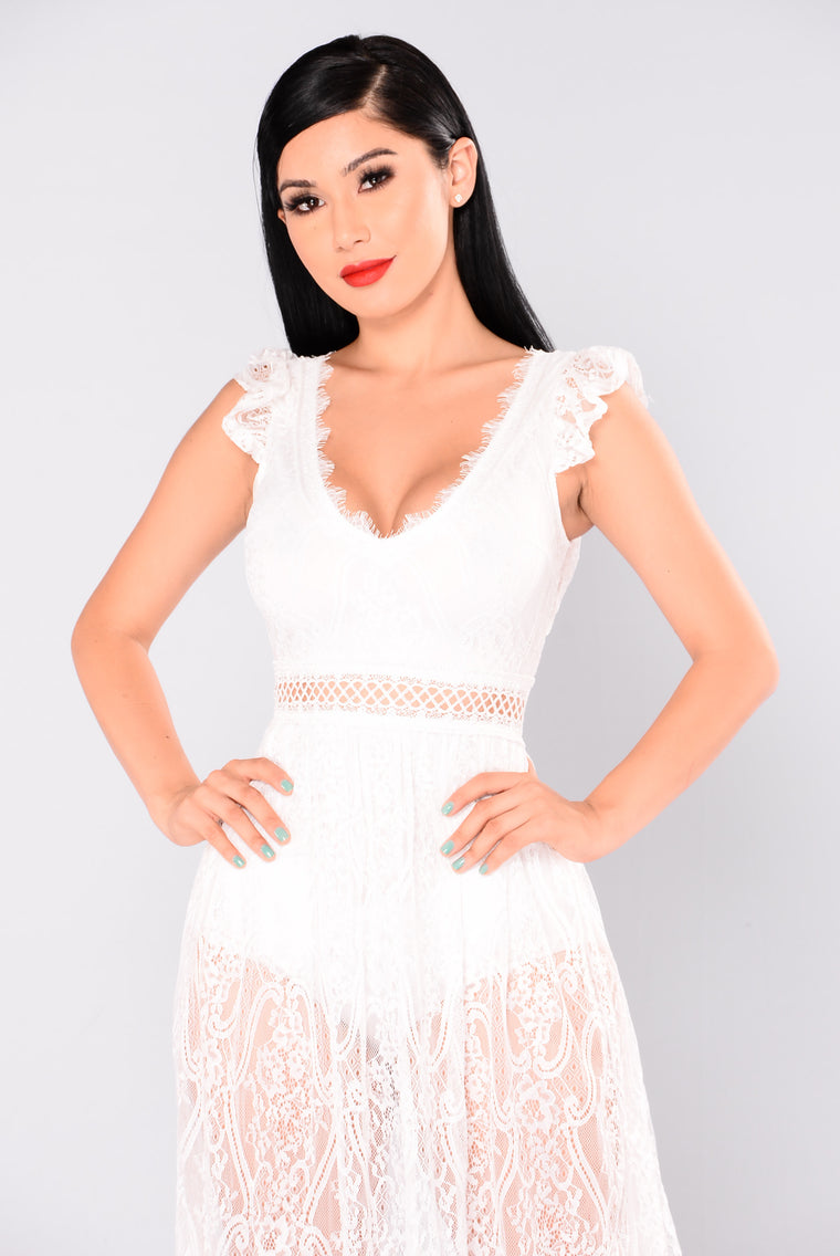 Bryleigh Lace Dress - White
