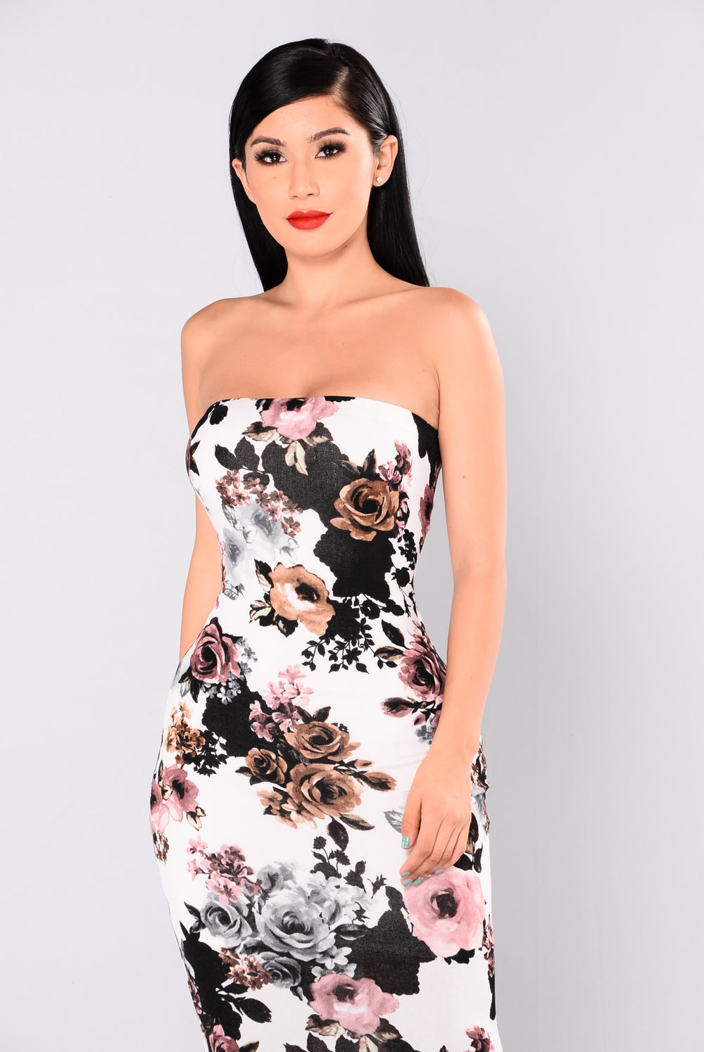 Grove Park Floral Dress - Ivory Multi