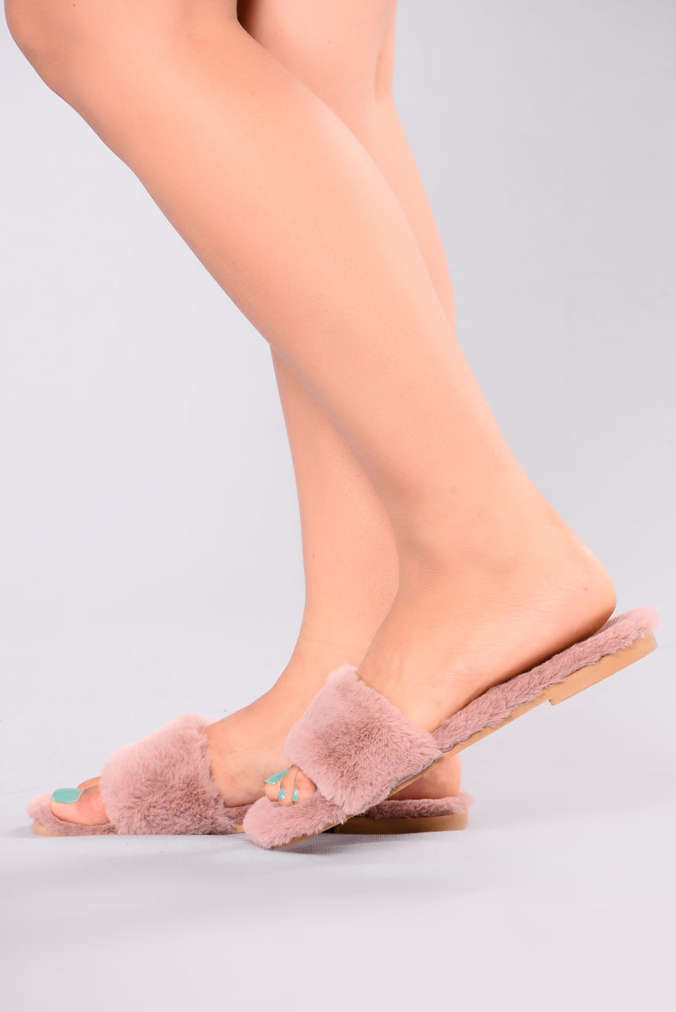 Dream Fur Slider - Mauve