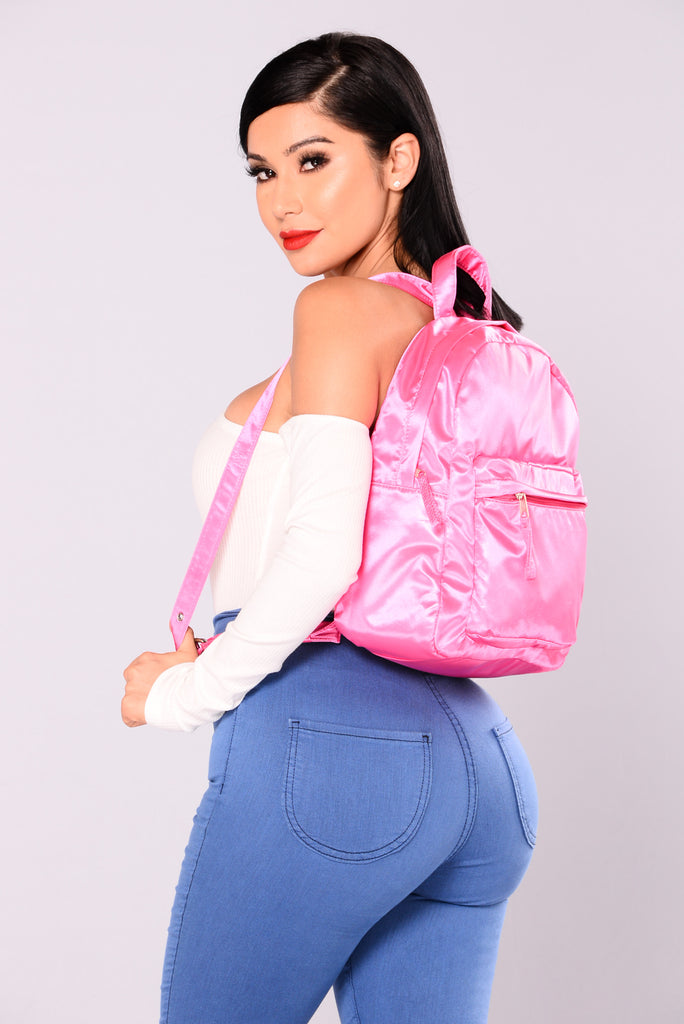 Satin Fun Backpack - Pink