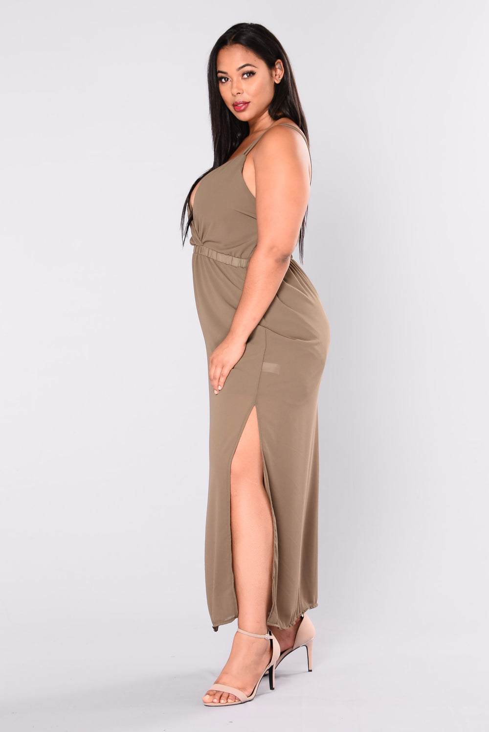 Pool Side Service Maxi Dress - Olive