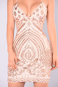 Remix Sequin Dress - Rose Gold
