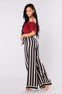 Mariana Stripe Pants - Ivory/Multi